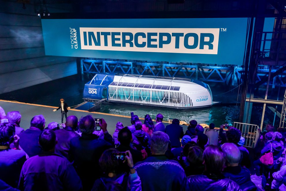 rotterdam, october 26, 2019 the ocean cleanup unveils the interceptor, the first scalable river cleanup technology.