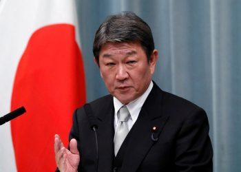 El ministro de asuntos exteriores nipón, Toshimitsu Motegi. | Issei Kato, Reuters.