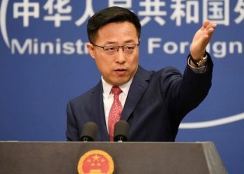 El portavoz del Ministerio de Exteriores chino, Zhao Lijian. | AFP.