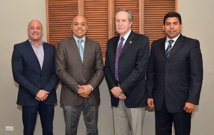 René del Risco Bobea, Jairon Severino, José Manuel López Valdés y Esteban Delgado.