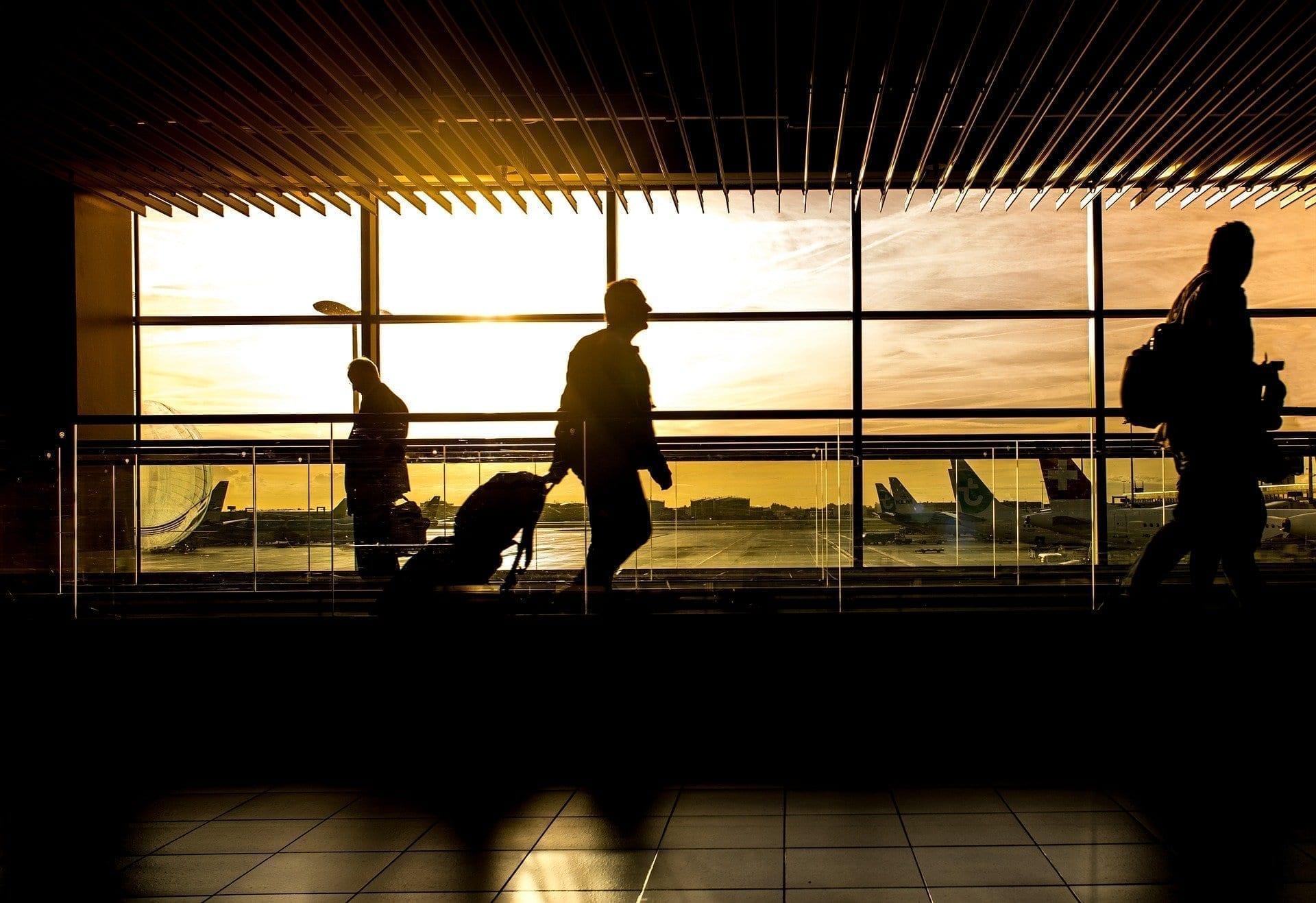 Viajero, aeropuerto, viajes
