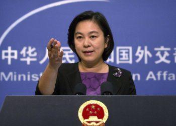 La portavoz del Ministerio de Asuntos Exteriores Hua Chunying. | Mark Schiefelbein, AP.