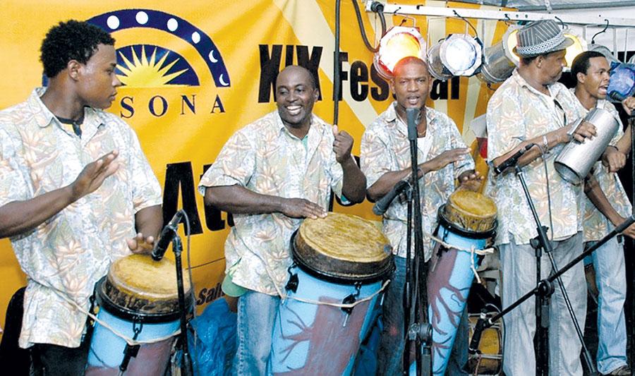 El festival de atabales de Sainaguá, en San Cristóbal, fue declarado patrimonio cultural de República Dominicana.