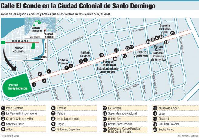 calle el conde ciudad colonial santo domingo