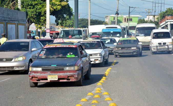 caos en el transporte publico