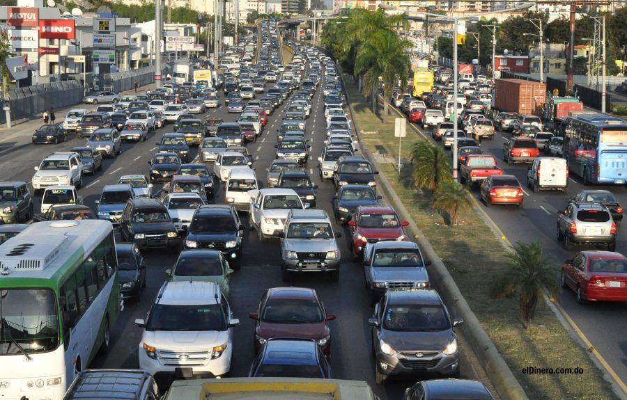 caos transporte taponamientos