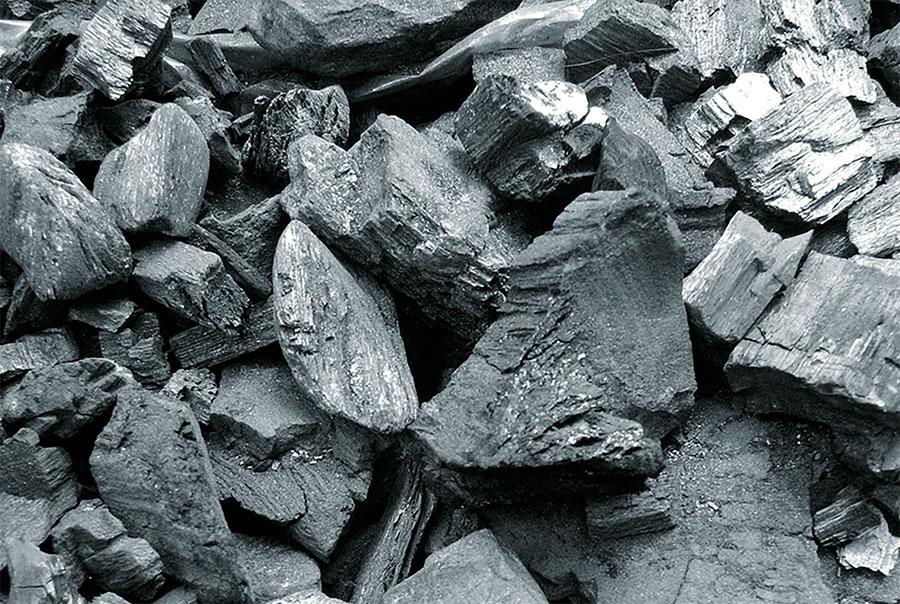 La producción de carbón vegetal se logra mediante hornos de quema de leña de bosques secos.