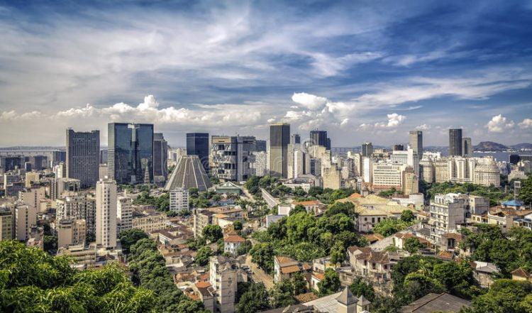 Centro de la ciudad financiera de Rio de Jainero, Brasil.