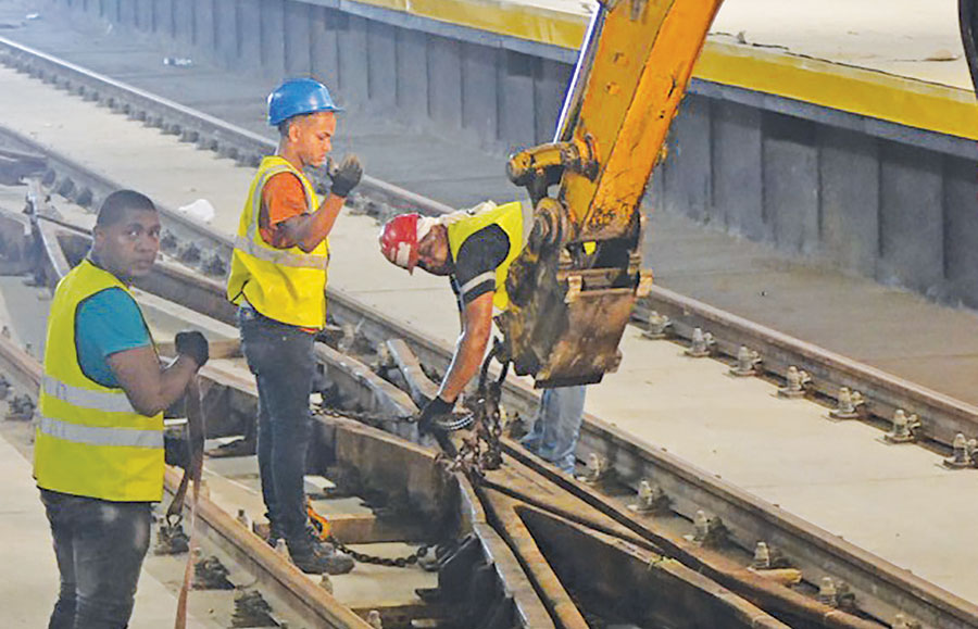 contruccion segunda linea metro santo domingo