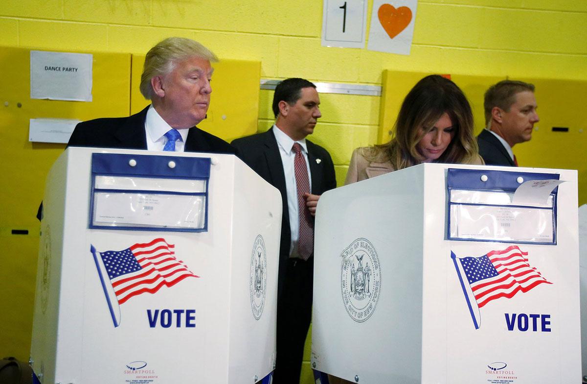 donald trump vote melania trump