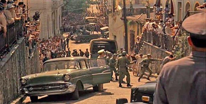 Escena de El Padrino II filmada en la Zona Colonial de Santo Domingo.