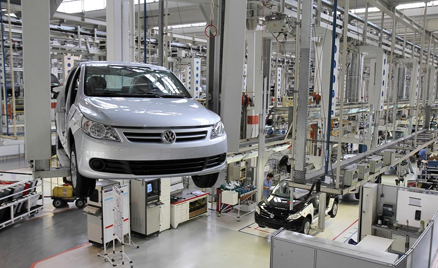 Fábrica de Volkswagen.