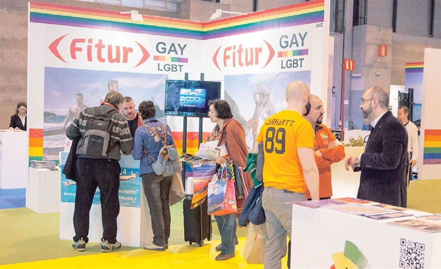 La Feria Internacional de Turismo de España (Fitur) incluyó desde hace cinco años un stand para el mercado gay.