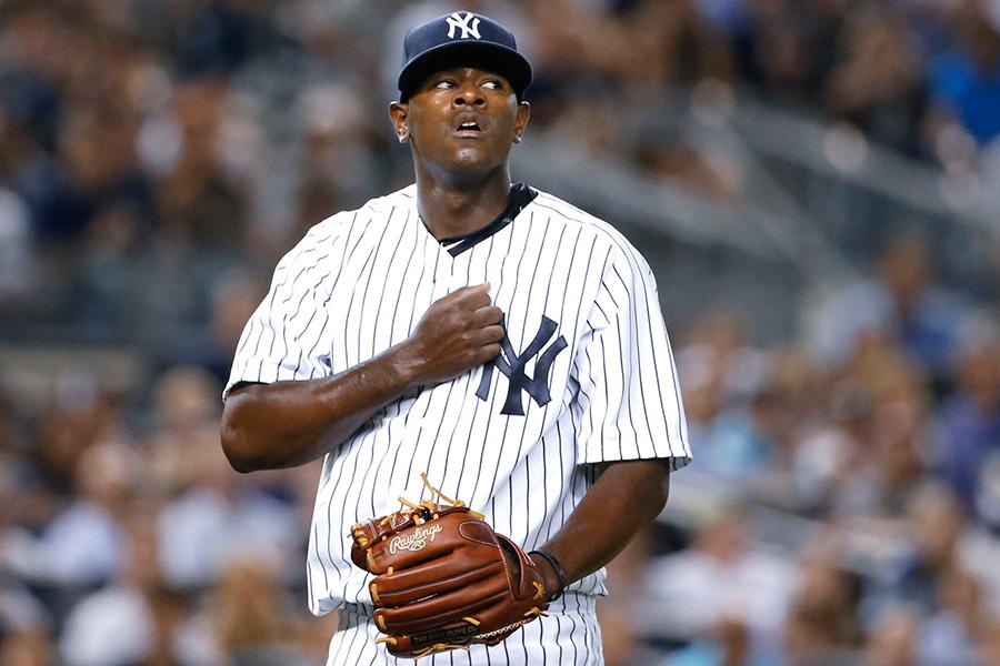 El dominicano Luis Severino, joven lanzador de los Yankees de Nueva York.