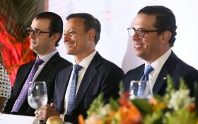 Álvaro Sousa, Jean Alain Rodríguez y César Dargam.