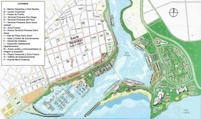 mapa-puerto-sans-souci-santo-domingo