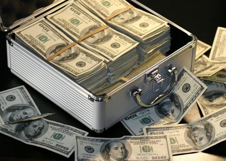 Riqueza, fortuna, dólares, millonario