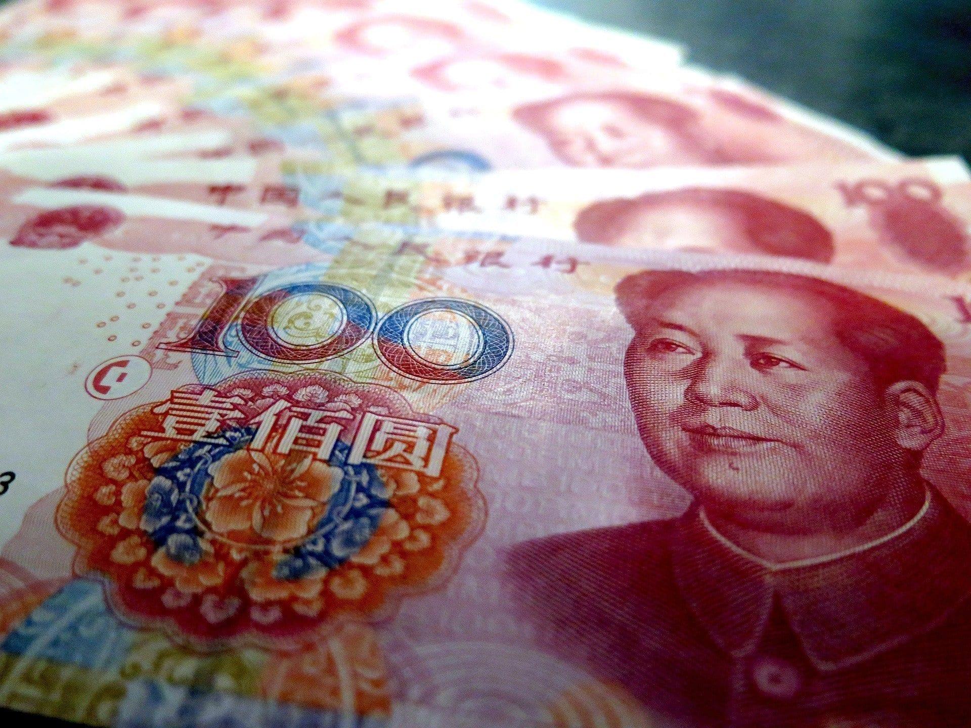 Yuanes, China, dinero