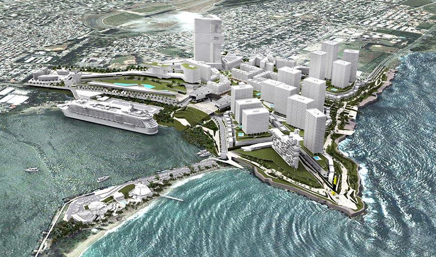 Se espera que el complejo SanSouci aporte belleza en la zona donde actualmente está la Academia Militar 27 de Febrero de la Armada Dominicana, la cual será trasladada a Boca Chica.