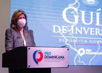 La vicepresidenta Raquel Peña presidió el acto de lanzamiento de la guía de inversión.