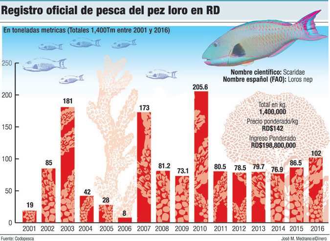 registro pesca pez loro