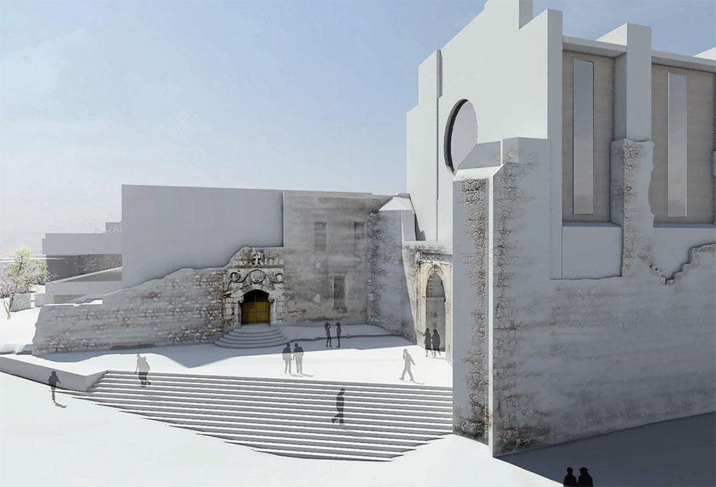 Esta es la maqueta propuesta para el remozamiento de las ruinas.