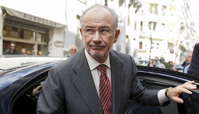 former imf chief rodrigo rato gets out of a car in front of his office in madrid