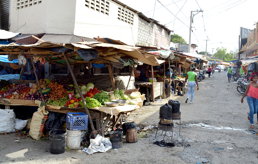 Comerciantes venden sus productos en quioscos de madera y en medio de la más acentuada insalubridad. | Lésther Álvarez