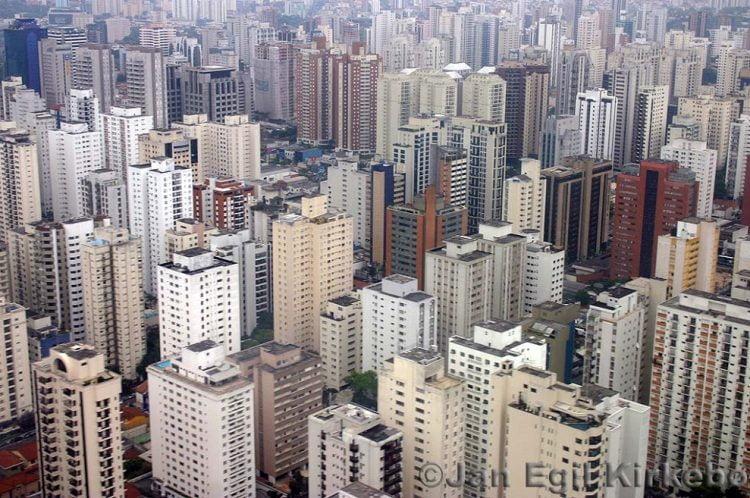Distrito financiero en Sao Paulo, Brasil.