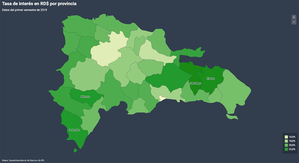 tasas de interes por provincia