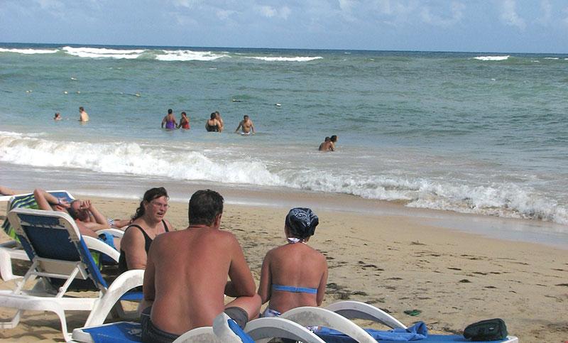 Turistas en República Dominicana.
